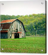 Riverbottom Barn In Spring Acrylic Print