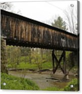 Riverdale Road Covered Bridge Acrylic Print