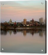 Riverfront At Dusk Acrylic Print