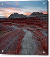 Rivers Of Red Acrylic Print