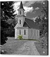 Riverside Presbyterian Church 1800s Bw Acrylic Print