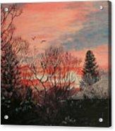 Riverton Sunset Acrylic Print