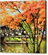 Riverwalk Covered Bridge Acrylic Print