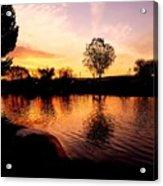 Riverwalk Sunrise  Acrylic Print