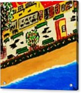 Riviera Beach Cafe Acrylic Print