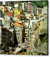 Riviera Hill Town Italy Acrylic Print