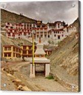 Rizong Monastery Ladakh Jammu And Kashmir India Acrylic Print