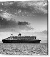 Rms Queen Mary 2 Mono Acrylic Print