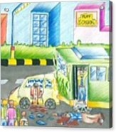 Road Accident Acrylic Print by Tanmay Singh