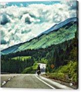 Road Alaska Bicycle  Acrylic Print