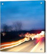 Road At Night 3 Acrylic Print