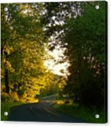 Road At Sunset Acrylic Print by Joyce Kimble Smith