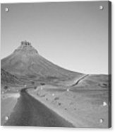 Road In Morocco Desert Acrylic Print