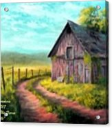 Road On The Farm Haroldsville L A Acrylic Print
