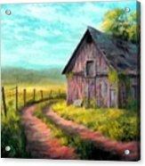Road On The Farm Haroldsville L B Acrylic Print