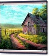Road On The Farm Haroldsville L B With Alt. Decorative Ornate Printed Frame.   Acrylic Print