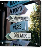 Road Signs Acrylic Print