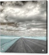 Road Sky Infrared Clouds Landscape Open Road Travel Path Road Trip Acrylic Print