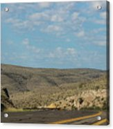 Road Through New Mexico Desert High Noon Acrylic Print