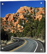 Road Through Red Canyon State Park Acrylic Print