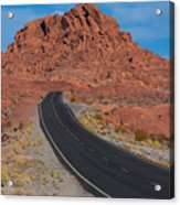 Road Through Valley Of Fire, Nv Acrylic Print