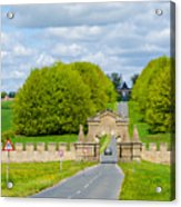 Road To Burghley House-vertical Acrylic Print