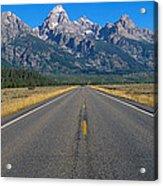 Road To Grand Teton National Park Acrylic Print