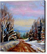 Road To Knowlton Quebec Acrylic Print