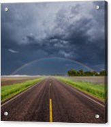 Road To Nowhere - Rainbow Acrylic Print