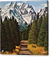 Road To Olympus Acrylic Print