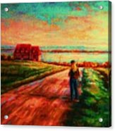 Road To Red Gables Acrylic Print
