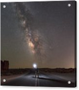 Hitchhike To The Galaxy Panorama Acrylic Print
