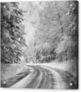 Road To Winter Acrylic Print