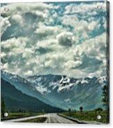 Road Travel Alaska Color  Acrylic Print