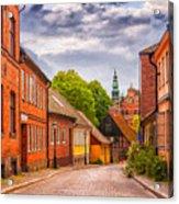 Roads Of Lund Digital Painting Acrylic Print