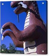 Roadside Dinosaur Acrylic Print