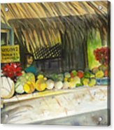 Roadside Fruit Stand Acrylic Print