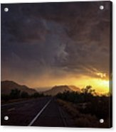 Roadside Sunset  Acrylic Print