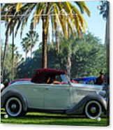 Roadster At The Castle Acrylic Print