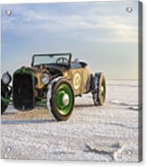 Roadster On The Salt Flats 2012 Acrylic Print by Holly Martin