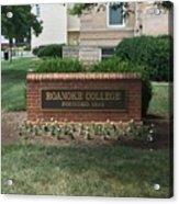 Roanoke College Sign Acrylic Print
