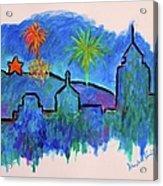 Roanoke In Blue Acrylic Print