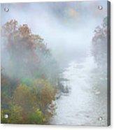 Roanoke River And Fog Acrylic Print