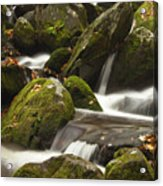 Roaring Fork Waterfall Acrylic Print by Andrew Soundarajan