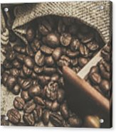 Roasted Coffee Beans In Close-up  Acrylic Print