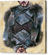 Robb Stark Acrylic Print by Denise H Cooperman
