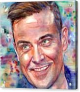 Robbie Williams Portrait Acrylic Print
