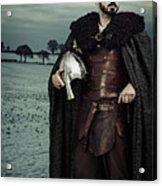 Robed Viking With Helmet Acrylic Print