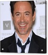 Robert Downey Jr. In Attendance Acrylic Print by Everett