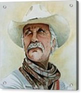 Robert Duvall As Augustus Mccrae In Lonesome Dove Acrylic Print